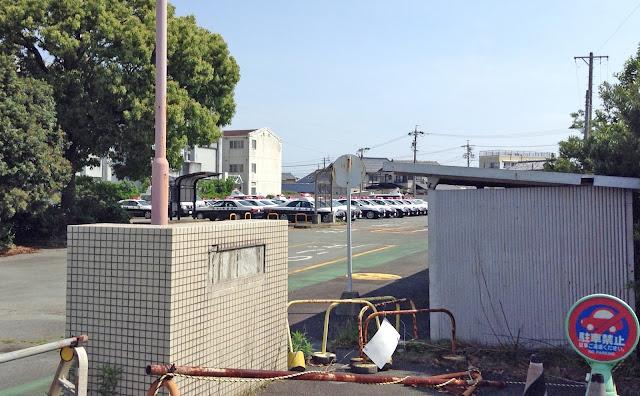 旧山田赤十字病院の駐車場