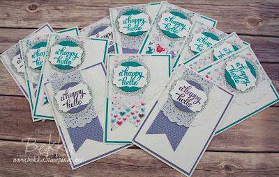 Happy Hello Cards Made Using Stampin' Up! UK Supplies that you can get here