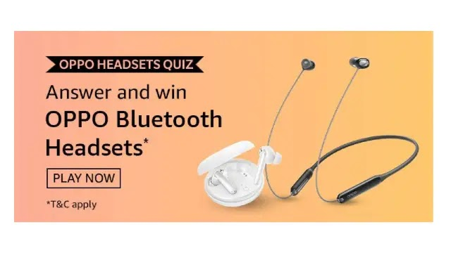 Amazon Oppo Headsets QUIZ – Answers & Win Oppo Bluetooth Headsets