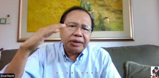 Rizal Ramli: Telah Hilang Kepercayaan terhadap Jokowi karena Tidak Konsisten Pidato dengan Kebijakan