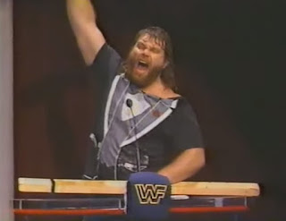 WWF - Slammy Awards 1987 - Hacksaw Jim Duggan won the 'Greatest Hit' award - tough guy!
