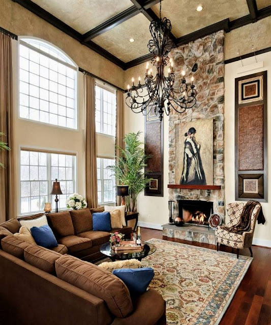 Luxury Decorating Ideas For Living Rooms With High Ceilings