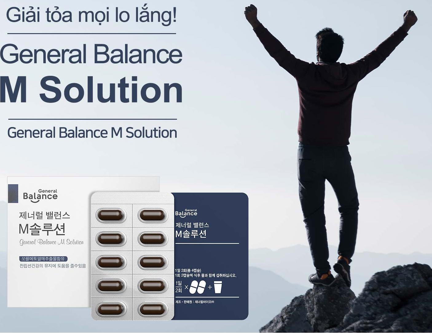 Thực phẩm bảo về sức khỏe General Balance M Solution GCOOP