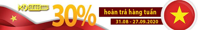 HOÀN TRẢ HÀNG TUẦN LÊN ĐẾN 30% CHỈ CÓ TẠI KDSLOTS
