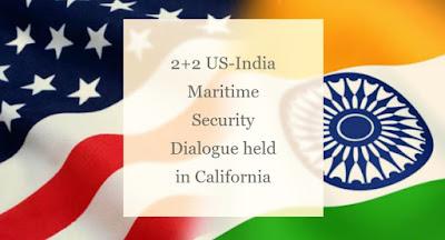 2+2 US-India Maritime Security Dialogue held in California
