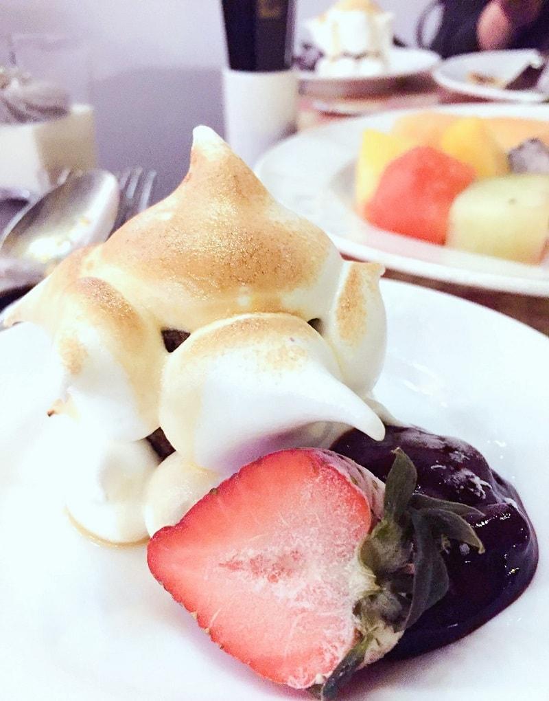 Baked Alaska at Cafe on the 1st The Excelsior Hong Kong