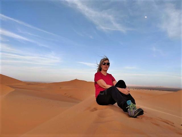 sulle dune del deserto di merzouga