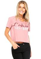 Moda Blusa Calvin Klein Jeans Cidades Rosê