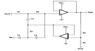 Dual Op Amp Implementations Circuit Diagram
