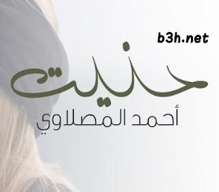 كلمات اغنية حنيت احمد المصلاوي