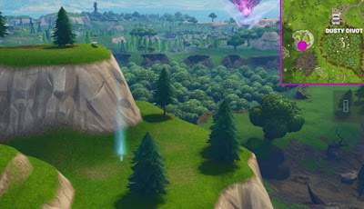 Timed Trial Locations Fortnite Dusty Divot