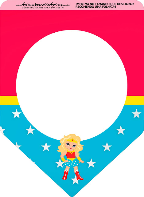 Blondie Wonder Woman Free Party Printables.