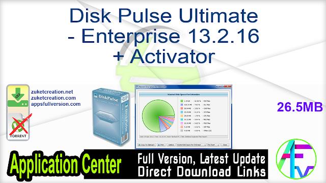 Disk Pulse Ultimate – Enterprise 13.2.16 + Activator