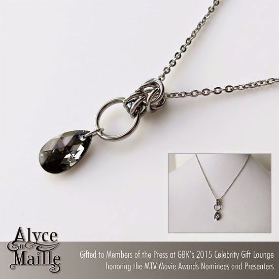 Alyce n Maille Silver Night Crystal Pendant