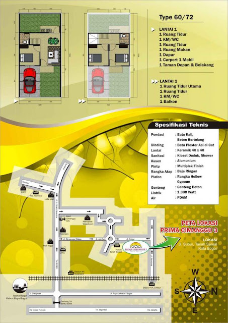 Prima Cimanggu 3 Town House Rumah Syariah 2 Lantai Di Kota Bogor