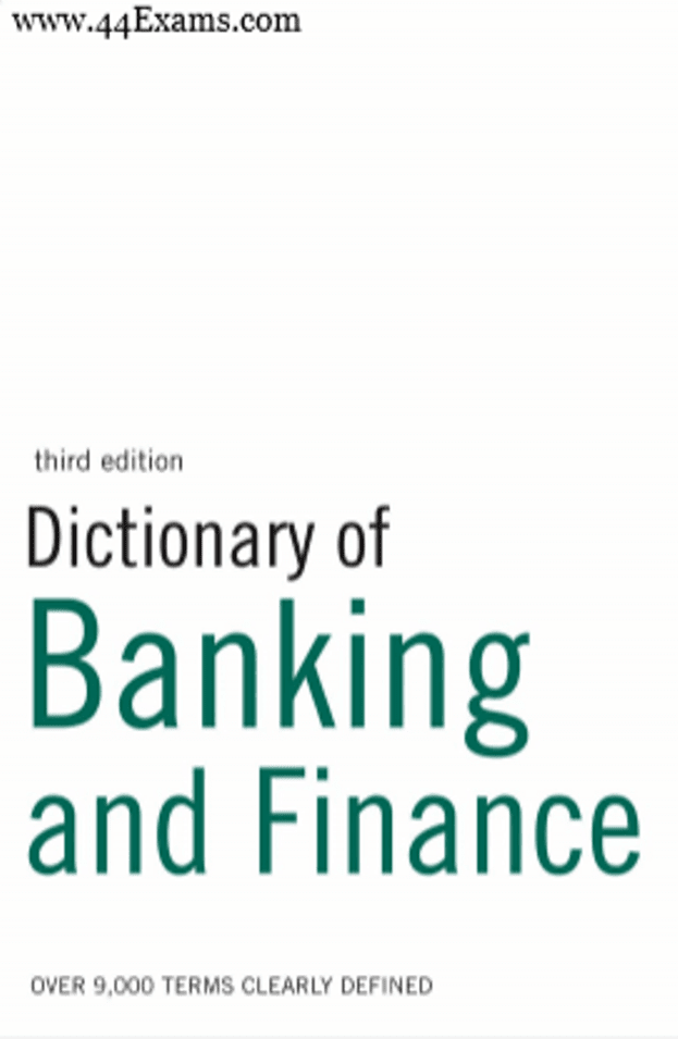 Dictionary-of-Banking-and-Finance-For-All-Competitive-Exam-PDF-Book