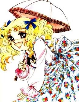 Imagen de Candy sonriendo y con sombrilla en mano