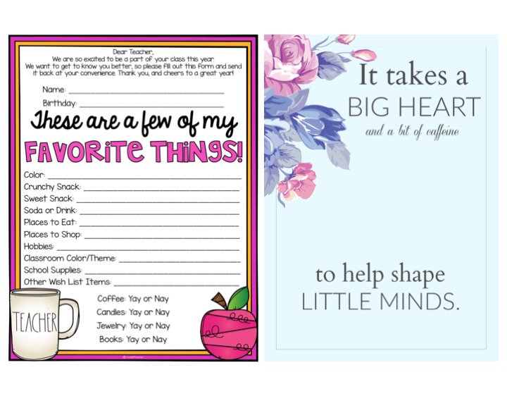 picture relating to Teacher Favorite Things Printable identified as Again toward Faculty Trainer Present Study TheHappyTeacher