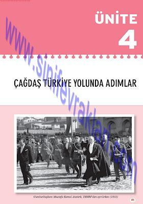 Top Yayınları 8. Sınıf İnkılap Tarihi Çalışma Kitabı Cevapları Sayfa 45