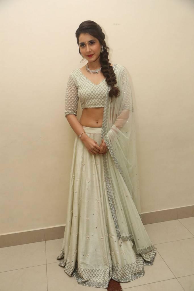 Raashi Khanna At Jai Lava Kusa Theatrical Trailer Launch Stills