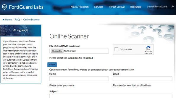 Website Scan Virus Online