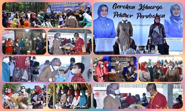 Ketua TP PKK Kab.Tubaba Sambut Kunker Ketua TP PKK Provinsi Lampung