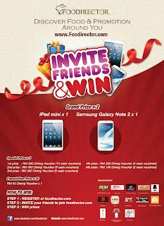 foodirectory - CONTEST - Foodirectory Invite and Win Samsung Galaxy Note 2 & iPad!!