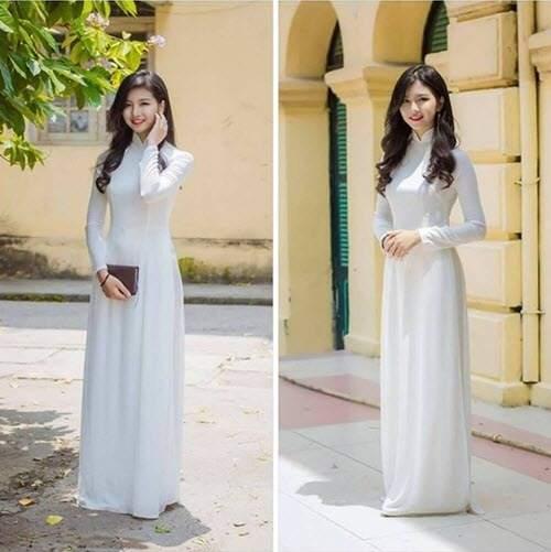 Nữ sinh được tìm kiếm sau khoảnh khắc diện áo dài xinh - Ảnh 1