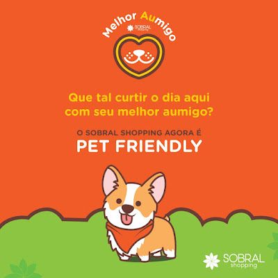 """Resultado de imagem para Em comemoração ao """"Dia do Amigo"""", no dia 20 de julho o Sobral Shopping se tornará """"Pet Friendly""""."""