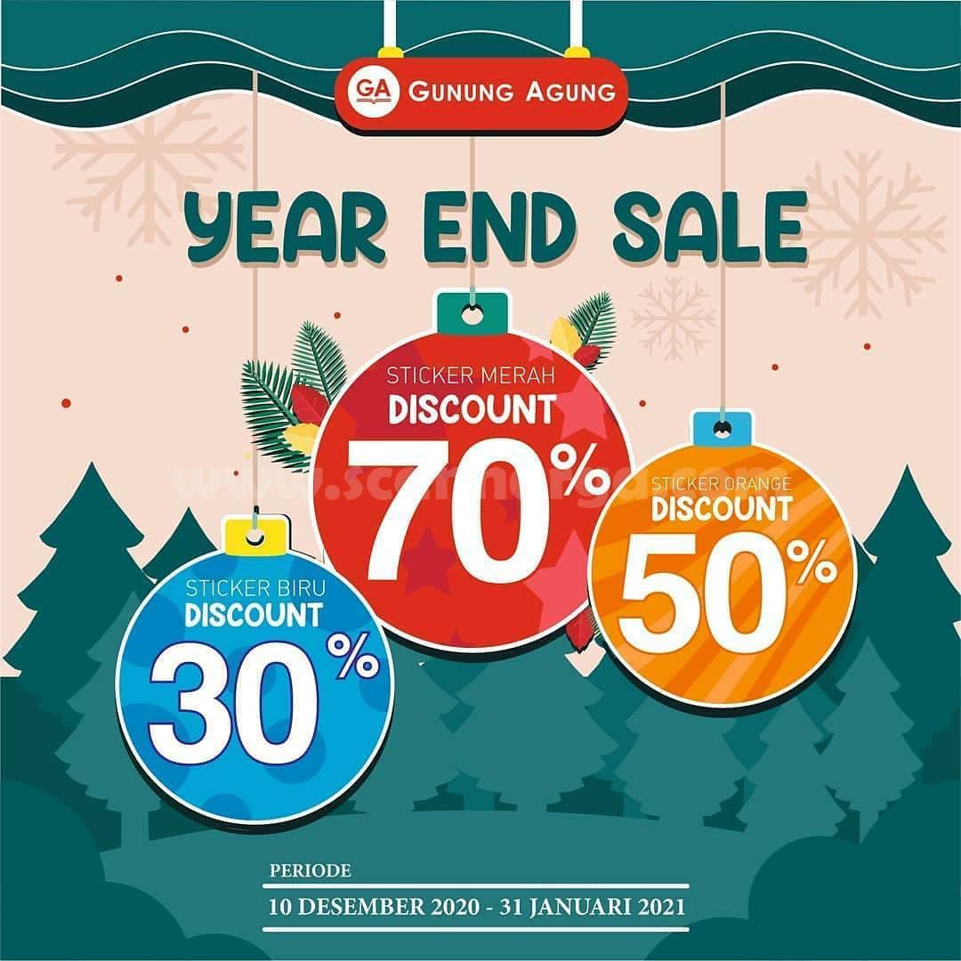 Promo Gunung Agung Year End Sale - Diskon Hingga 70%