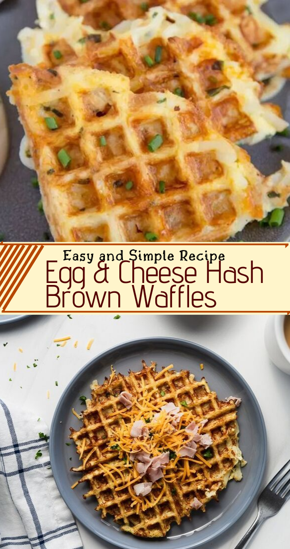 Egg & Cheese Hash Brown Waffles #desserts #cakerecipe #chocolate #fingerfood #easy