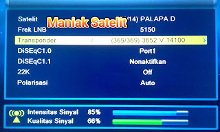 Cara Tracking Satelit Measat 3A C-BAND