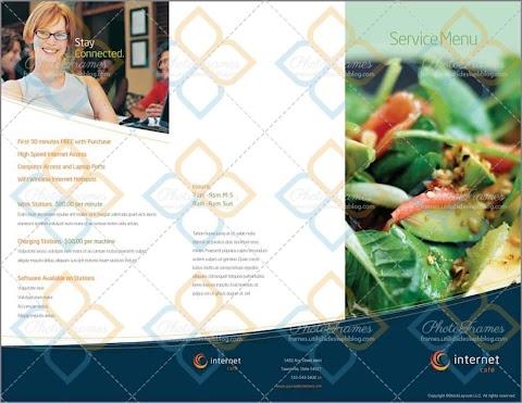 Plantilla para crear menú de restaurante editable en InDesign, Word, Illustrator y mas