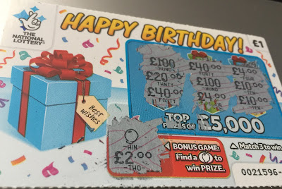 £1 Happy Birthday Scratchcard £2 Win