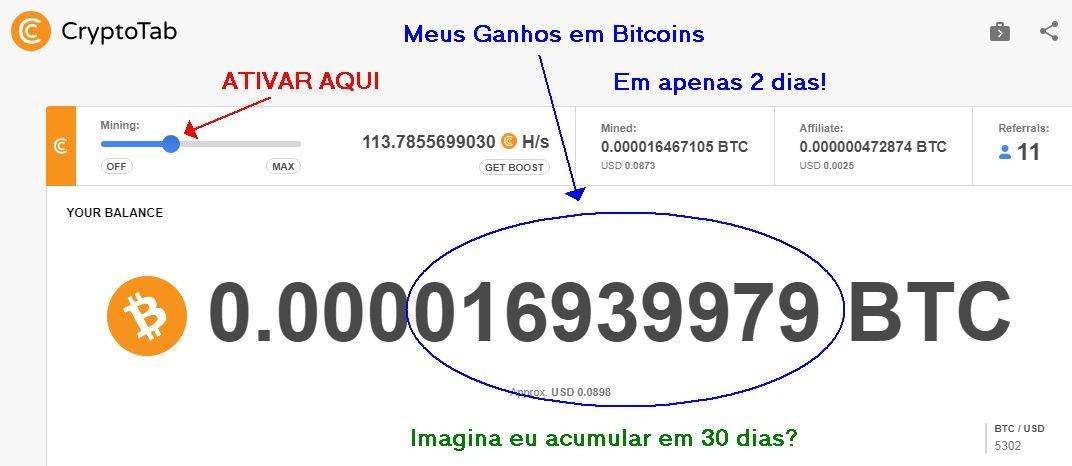 Minha Prova de Ganhos na Cryptotab