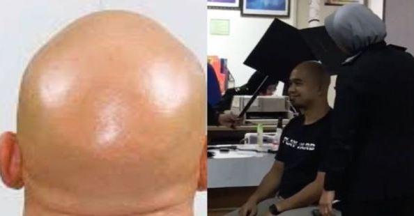 Ngakak! Pria Ini Kesulitan Difoto Untuk Bikin Paspor Gegara Kepalanya Botak