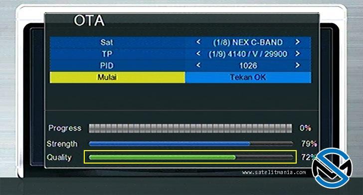 Cara Update OTA Nex Parabola