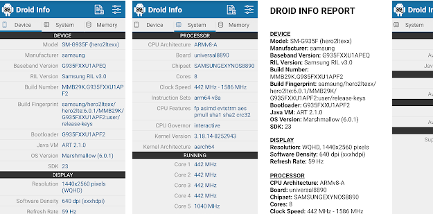Droid Hardware Info - Το απόλυτο εργαλείο για να μάθουμε τα πάντα για το Android κινητό μας