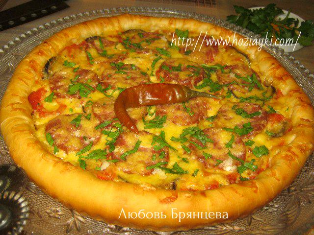 как приготовить пиццу с баклажанами