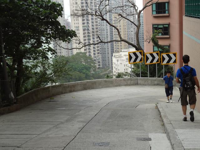 Acabando la ruta por Old Peak Road en Hong Kong