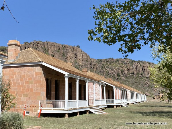 buildings at Fort Davis National Historic Site in Fort Davis, West Texas