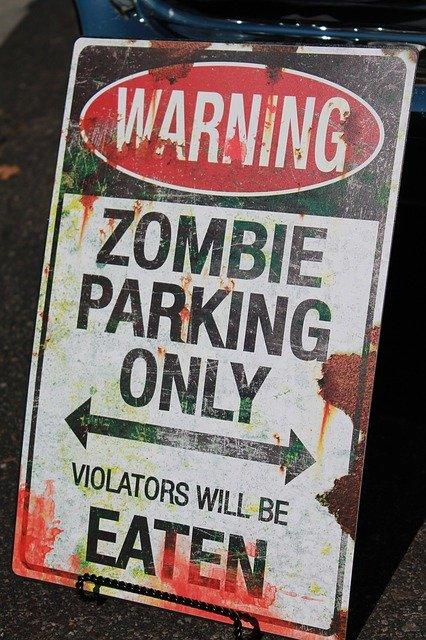 zombie sign halloween decoration