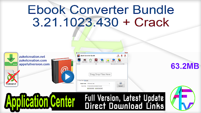 Ebook Converter Bundle 3.21.1023.430 + Crack