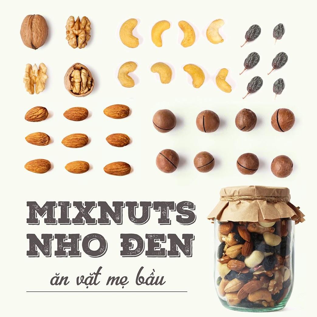[A36] Mua quà tặng Bà Bầu Mixnuts + Mixfruits dinh dưỡng