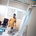 See the face of the Man caught on CCTV stealing laptop from an office in Abuja..(photos)