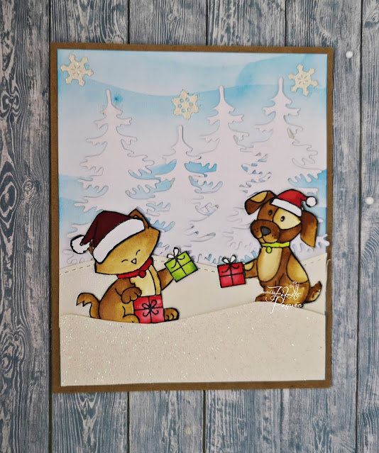 Fikreta's card features Let's Pawty, a Newton's Nook Designs a 2019 Stamptember Exclusive; #newtonsnook, #cardmaking