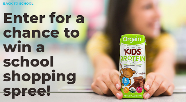 Orgain is celebrating Back To School by giving away $5000 CASH to one lucky winner, to pack wholesome snacks for your little ones!