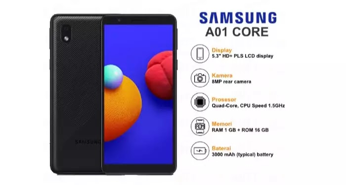 samsung galaxy a01 core warna hitam