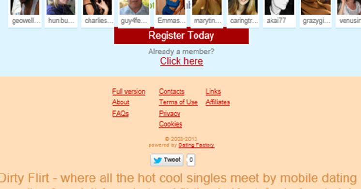 flirt dating site review