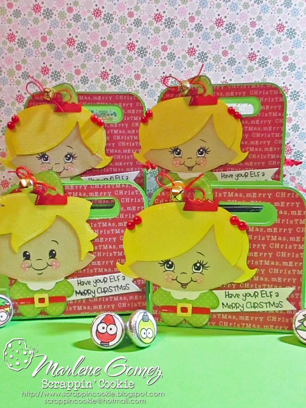 Scrappin Cookie: Have your ELF a Merry Christmas Gift Card Holders